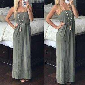 Chico's Green Maxi Dress